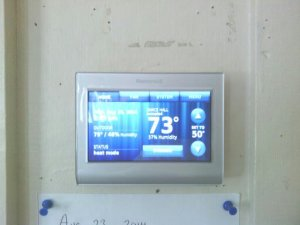 Thanks to Bill Chidsey for locating and installing this up-to-date thermostat!