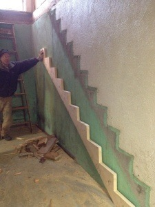 John Mallery Laying out new stairs